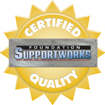 Foundation Supportworks authorized contractor seal Certified Quality