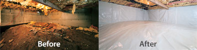 Crawl Space Repair & Encapsulation Before & After