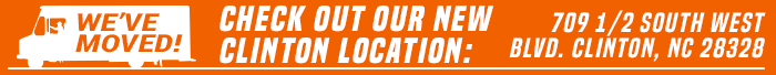 Check out our new Clinton location: 709 1/2 South West Blvd. Clinton, NC 28328!